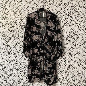 Spiritual Gangster Floral Printed Robe